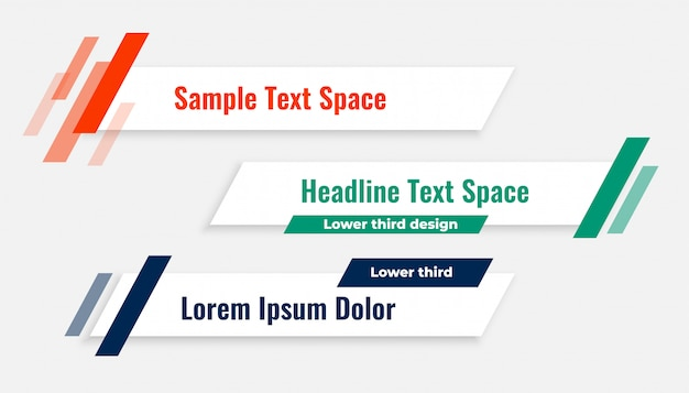 Geometric modern lower third banner template