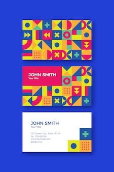 Geometric modern shapes business card template set