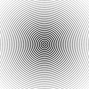 Geometric monochrome halftone round dot