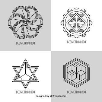 Geometric monoline logo set