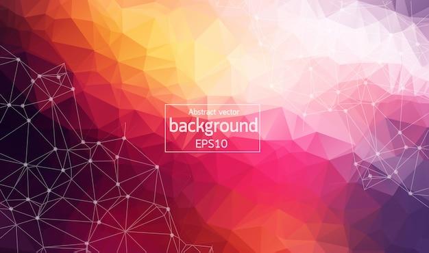 Geometric multicolor polygonal background