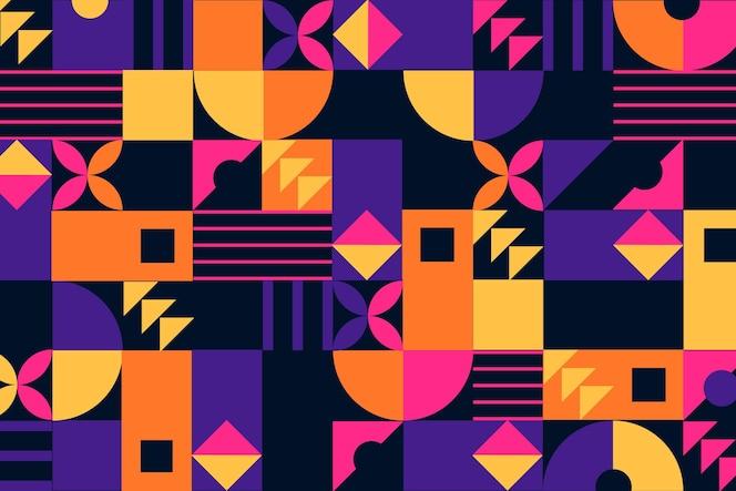 Геометрический фон настенной росписи с абстрактными формами