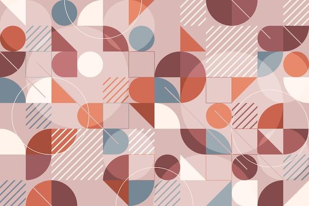 幾何学的な壁画の壁紙のコンセプト