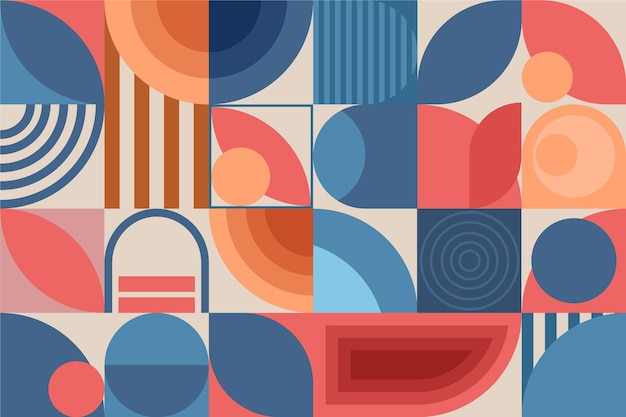 Geometric mural wallpaper style