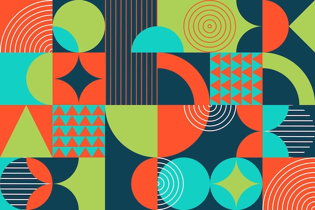 Geometric mural wallpaper