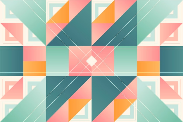Geometric mural wallpaper