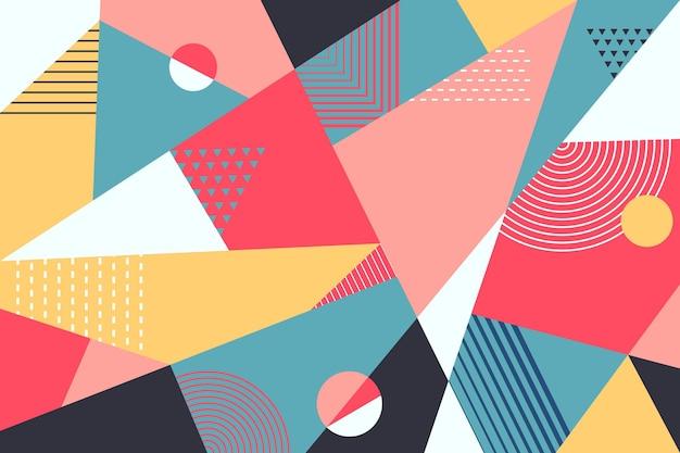 幾何学的な壁画の壁紙