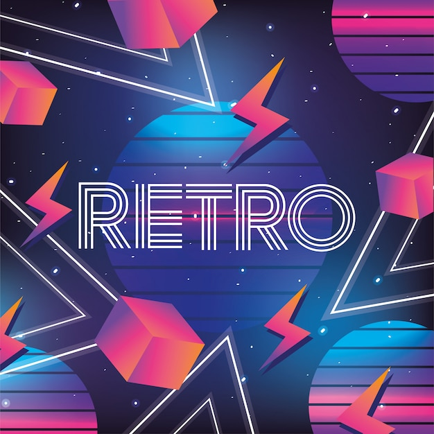 Geometric neon graphic style background