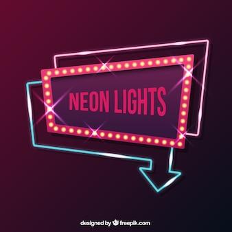 Geometric neon sign