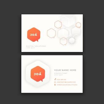 Geometric neumorph business cards template
