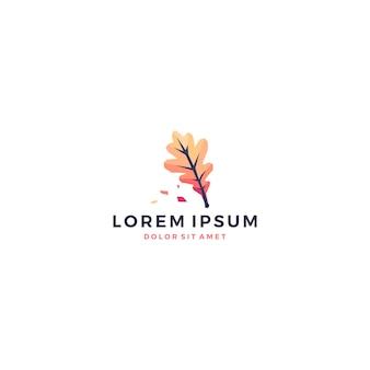 Логотип геометрического дубового листа