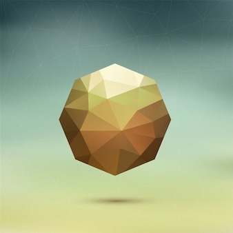 Geometric octagon on a blurred background