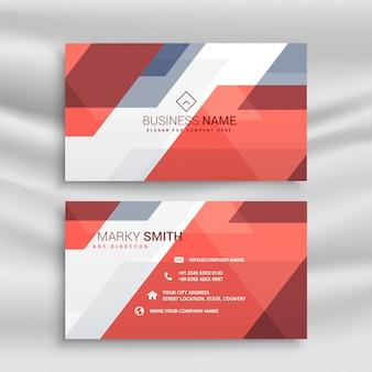 Geometric orange business card professional template