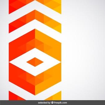 Geometric orange decoration