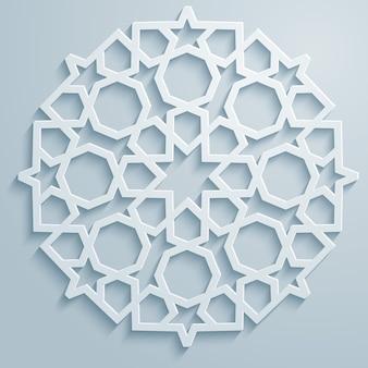 Geometric ornament arabic round pattern background - persian decorative