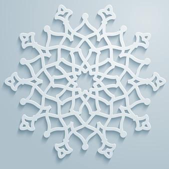 기하학적 장식 아랍어 라운드 패턴 배경