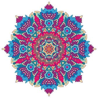 기하학적 장식 판타지 boho 마술 디자인 메달리온 인쇄
