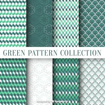 Geometric ornamental leaves patterns