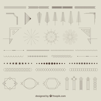 Geometric ornments collection