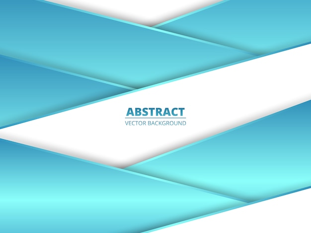 Geometric overlap white and blue background.