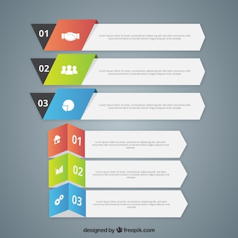 Geometric pack of infographic banners
