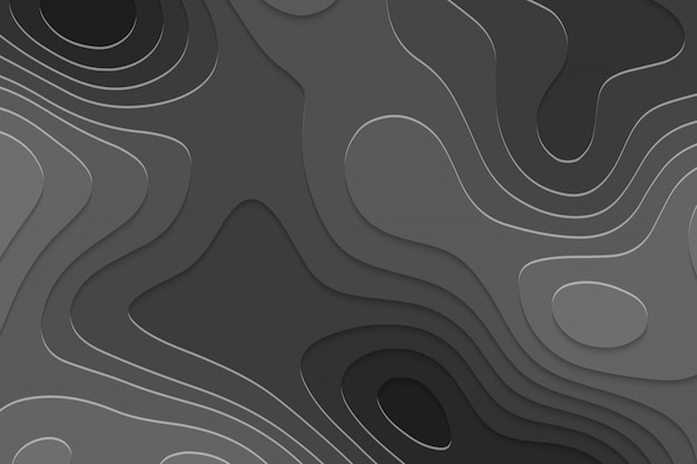 Geometric paper cut background