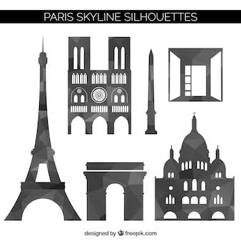 Geometric paris silhouettes