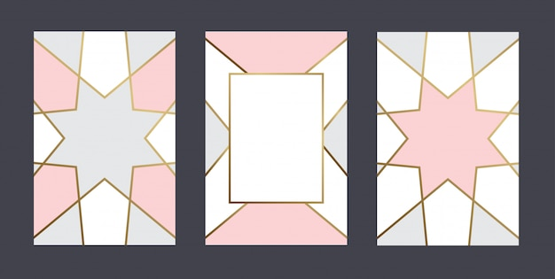 Geometric pastel color card template
