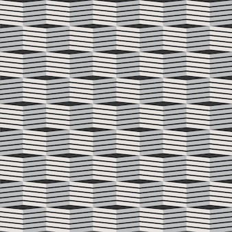 Geometric pattern 3d lines pattern vector building background black and white textured