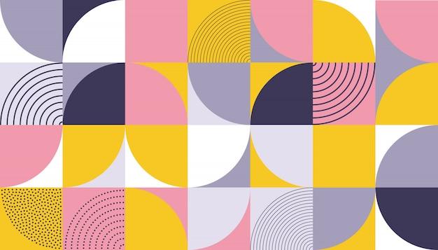 幾何学模様の抽象的なカラーデザイン