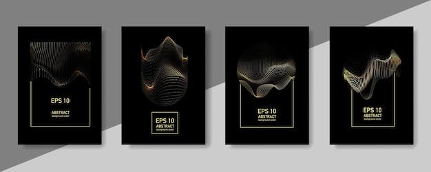 기하학적 패턴 추상 골드 배경입니다. 그라데이션 배너 포스터 템플릿입니다.