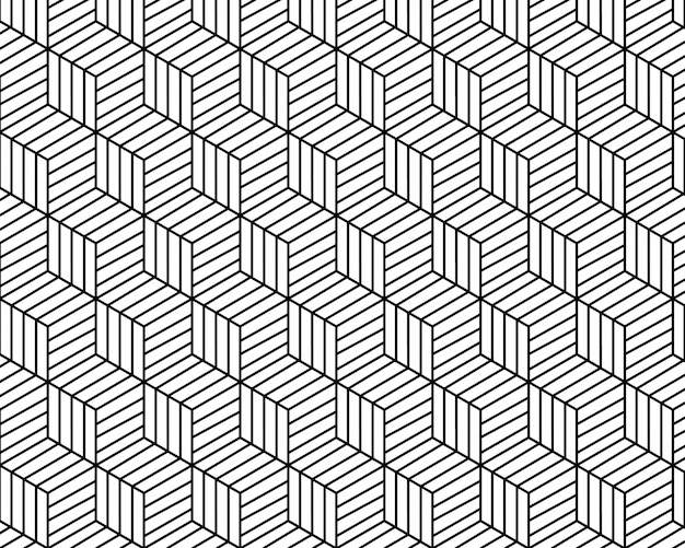 Geometric pattern abstract white and black tone vector background