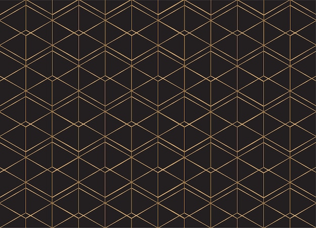 Geometric pattern background. golden lines.