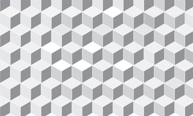 幾何学模様のキューブの背景。