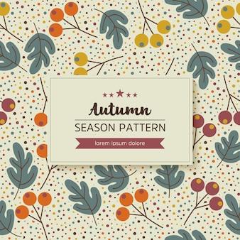 秋の葉と小枝の幾何学模様