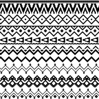 Geometric pattern in tribal style