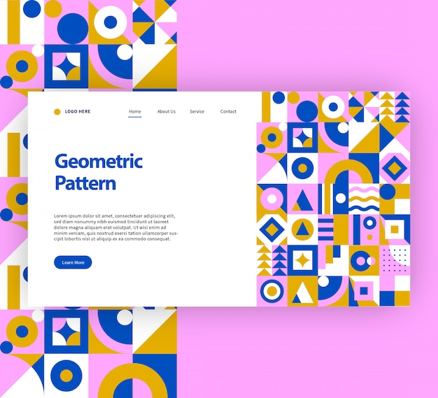Geometric pattern website template