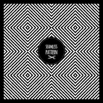 Мода бесшовных геометрических черно-белый узор вектор текстуры дизайн