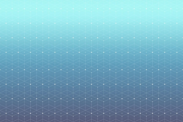 연결된 선과 점이 있는 기하학적 패턴입니다. 그래픽 배경 연결. 디자인을 위한 현대적인 세련된 다각형 배경입니다. 벡터 일러스트 레이 션.