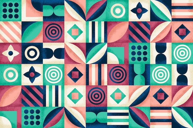 Geometric pattern with grain texture
