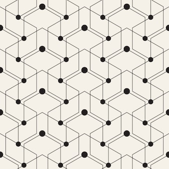 Geometric pattern with lines and dots