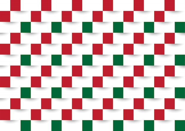 Geometric pattern with red and green colors