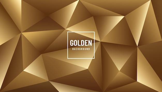 金色の金属の三角形の幾何学模様