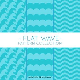 波の幾何学的パターン
