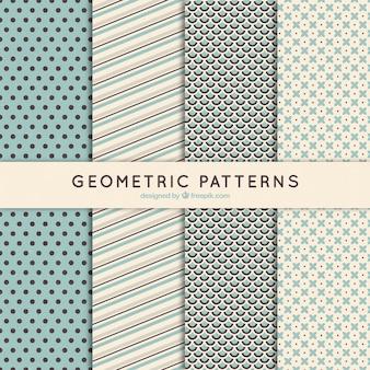 Geometric patterns in retro style