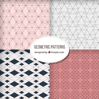 다른 모양의 기하학적 패턴