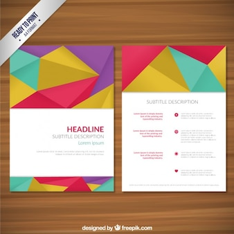 Geometric polygons brochure