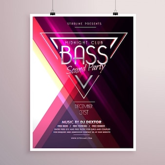 Geometric poster for a party