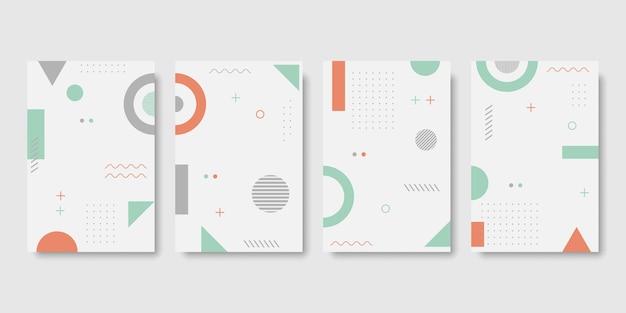 Геометрический плакат набор иллюстрации концепции