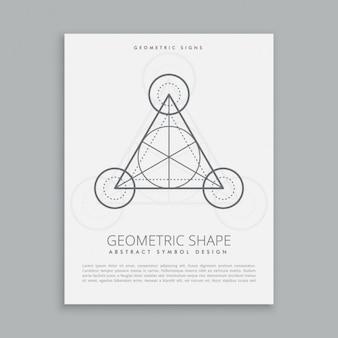 Geometric poster template